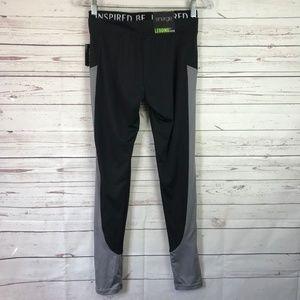 Energie Pants - Energie Active Juniors Midrise Legging Gray Mesh